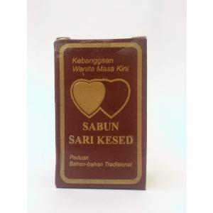 ジャムウソープ石鹸 SABUN SARI KESETは、植物の葉や根などの天然成分を、古来から伝わる...