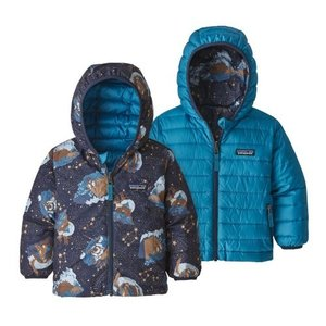 Patagonia パタゴニア 3ヵ月-5歳用 男の子用Down Sweaterフード付きリバーシブ...