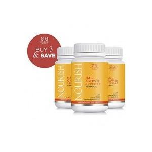 Nourish Beaute Hair Growth Support Vitamins 60粒×3個