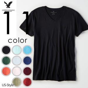 アメリカンイーグル メンズ VネックTシャツ 無地T AEO...
