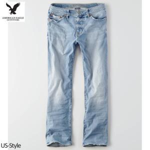 アメリカンイーグル メンズ ブーツカットジーンズ ブルー A...
