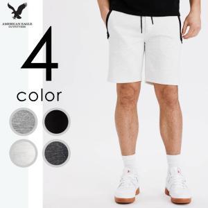 アメリカンイーグル メンズ ショートパンツ フリース ジョガーパンツ フリース ライトウェイト|us-style