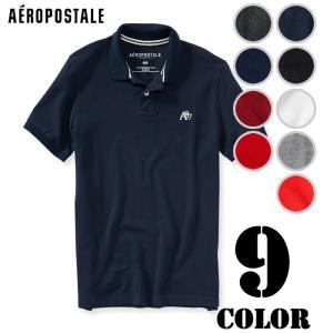 エアロポステール メンズ ポロシャツ A87 Solid P...