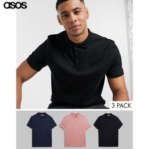 エイソス メンズ マルチカラー 半袖ポロシャツ ジャージー us-style