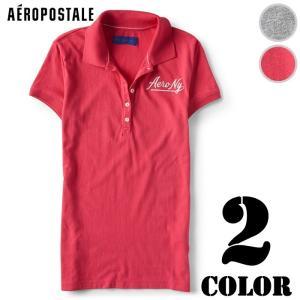 エアロポステール レディース ポロシャツ ロゴ Aero NY Logo Jersey Polo(81341278) us-style