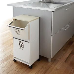 ごみ箱 分別式 キャスター付き ワゴン 2段 キッチン|usagi-shop