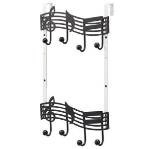 ドアハンガー ドアフック 収納 ハンガー 音符 2段|usagi-shop