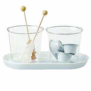 シュガーポット おしゃれ ガラス トレー トレイ 砂糖入れ フレッシュ 珈琲 コーヒー 入れ物 容器