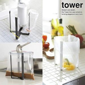 スーパーなどのポリ袋を利用して、調理中にでる野菜クズなどを手軽に処理できる便利なポリ袋スタンドです。...