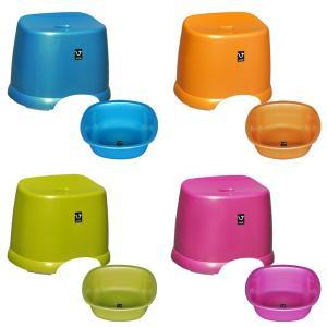 お掃除簡単なカビヌメリ防止加工済のおフロの椅子と湯おけセット! パールのような光沢の輝きがあり、高級...