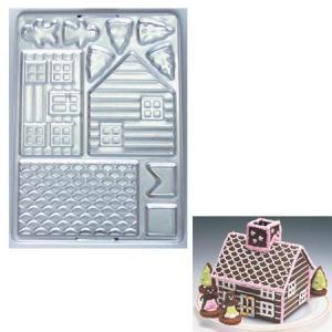 クッキー抜き型 ログハウス お菓子の家 製菓道具 お菓子作り クッキー型 セット|usagi-shop