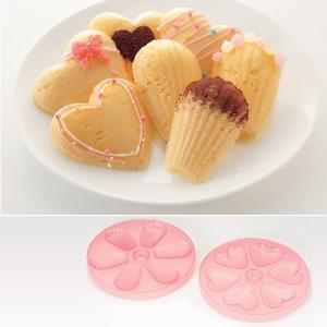 マドレーヌ型 レンジ用 ハート型 シェル型 貝型 製菓道具 お菓子作り マドレーヌ 型|usagi-shop