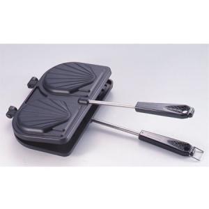 ホットサンドメーカー 貝型 ガス火専用 フッ素樹脂加工 ホットサンドメーカー|usagi-shop