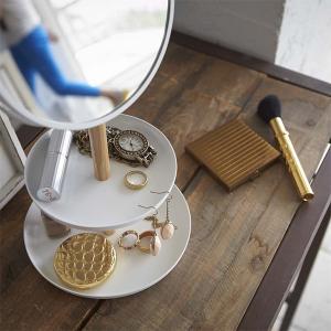 卓上ミラー 小物収納 アクセサリースタンド 鏡|usagi-shop