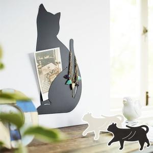 ウォールディスプレイ ネコ 壁面収納 ラック おしゃれ かわいい 猫 山崎実業|usagi-shop