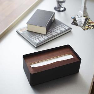 ティッシュケース 木製 ウッド 北欧 おしゃれ 山崎実業|usagi-shop