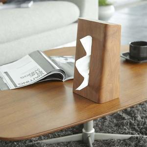 ティッシュケース 縦型 天然木製 山崎実業|usagi-shop