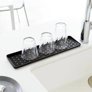 水切りトレー スリム 細い グラス立て コップ立て 洗い物 食器 乾かす 山崎実業|usagi-shop
