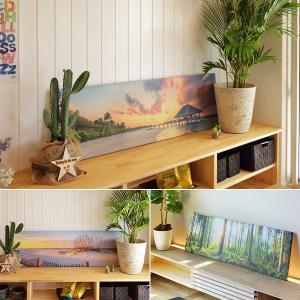 アートパネル インテリア 絵画 置き型 立て掛け パネルボード 海 森 リゾート 都会 ビル|usagi-shop