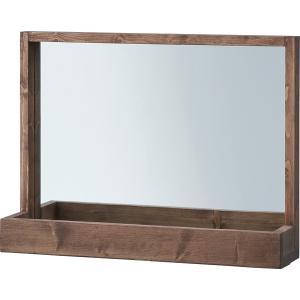 ミラー 卓上ミラー 鏡 長方形 ナチュラル 木製 木目|usagi-shop
