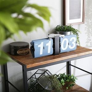 置き時計 壁掛け時計 おしゃれ アナログ表示 数字 大きい 見やすい インテリアクロック パタパタ機能 usagi-shop