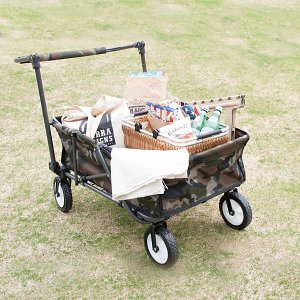 重たい荷物を楽々運べるクイックカートです。 キャンプやピクニック、大荷物で移動するイベントにピッタリ...