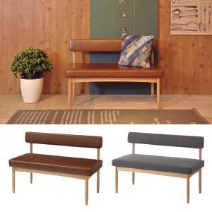 ダイニングベンチ 背もたれ付き チェア 椅子 110cm 二人掛け|usagi-shop