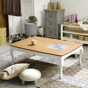 こたつテーブル おしゃれ モロッコ風 デザイン モロッコ タイル 天板|usagi-shop