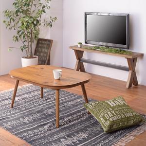 センターテーブル こたつ リビング 薄柄 木製 北欧 おしゃれ usagi-shop