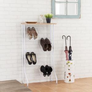 シューズラック スリム 省スペース 薄型 コンパクト 靴箱 玄関収納 スチールラック|usagi-shop