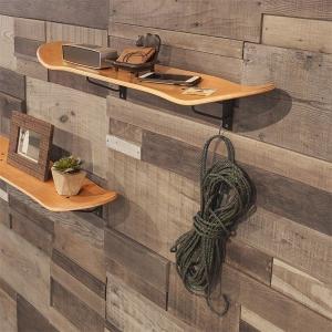 ウォールラック 壁面 収納 スケボー型 おしゃれ インテリア 木製 カジュアル アメリカン かっこいい usagi-shop