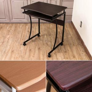 デスク 机 コンパクト 小さい パソコンデスク PCデスク スライド棚付き キャスター付き 子供部屋 オフィス|usagi-shop