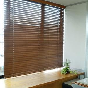 ウッドブラインド 木製 木目調 軽量 おしゃれ 耐水 88×180|usagi-shop