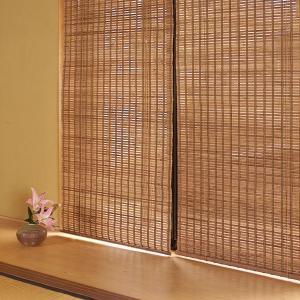 ロールスクリーン 竹製 アジアン 和風 おしゃれ 防カビ 防虫 88×135|usagi-shop