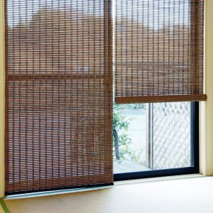 ロールスクリーン 竹 アジアン 掃き出し窓 おしゃれ 防カビ 防虫 88×180|usagi-shop