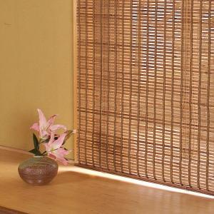 ロールスクリーン 竹製 和風 防カビ 176×180 大きいサイズ 掃き出し窓 リビング|usagi-shop