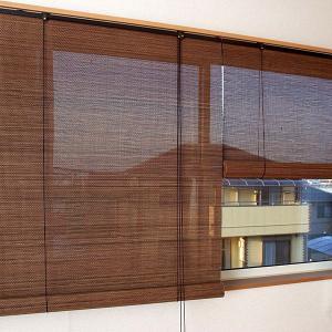 ロールスクリーン 窓 竹 バンブー アジア 和風 おしゃれ 88×135 ロールアップスクリーン|usagi-shop