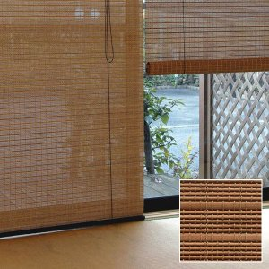 ロールスクリーン 掃き出し窓 リビング 176×180 アジアン 和風 すだれ|usagi-shop
