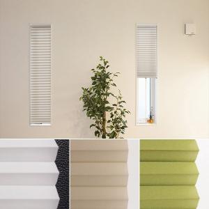 ハニカムシェード 小窓用 スリット窓 35×135 玄関 キッチン 突っ張り式 断熱 保温 遮光|usagi-shop