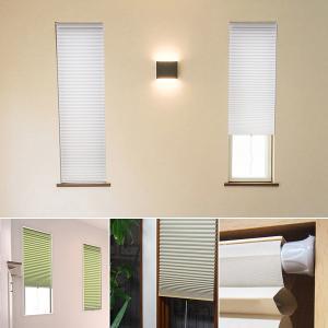 ハニカムシェード 35×90 小窓用 スリット窓用 突っ張り棒 断熱 保温 遮光|usagi-shop