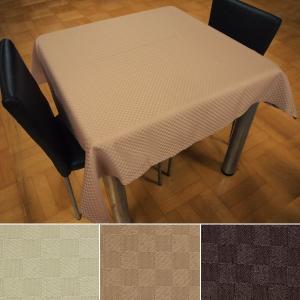 テーブルクロス 撥水 正方形 120×120 おしゃれ 市松模様 2人掛けテーブル用|usagi-shop