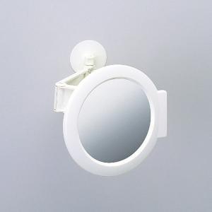 鏡 曇らない お風呂場 浴室 伸縮式 伸びる バスルーム ミラー 丸型|usagi-shop