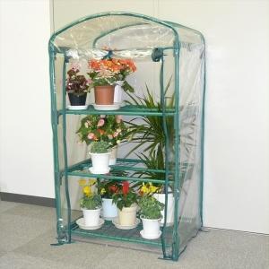 道具を一切使わずパイプを差し込むだけで組み立てできる手間いらずの簡易温室です。 女性も簡単に設置でき...