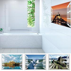 張るだけで季節感あふれる景色が目の前に広がり、お風呂場が露天風呂になったみたい! 浴室内で貼れる世界...