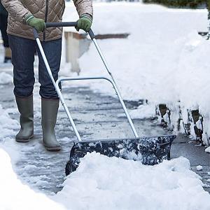 雪かき 道具 スコップ 除雪機 家庭用 ラッセル スノーダンプ タイヤ付き|usagi-shop