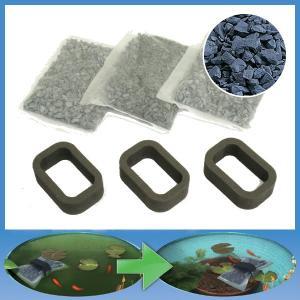 水槽 水質浄化 アオコ 除去剤 活性炭 光触媒 無害 消臭 抗菌 防カビ|usagi-shop