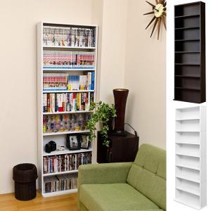 本棚 コミック 単行本 DVD CD 薄型 スリム オープンラック 収納 可動棚|usagi-shop