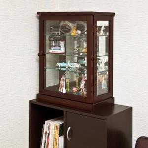 コレクションケース ショーケース フィギュア 棚 扉つき 背面ミラー 鏡あり|usagi-shop