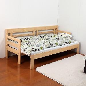 ソファベッド シングル すのこ 天然木 ソファーベッド マットレス付 スノコベッド コンパクトの写真