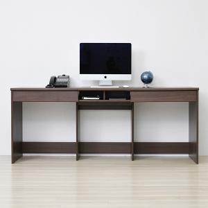 デスク 机 ワイド 横長 オフィス 書斎 勉強机 パソコンテーブル 引き出し|usagi-shop